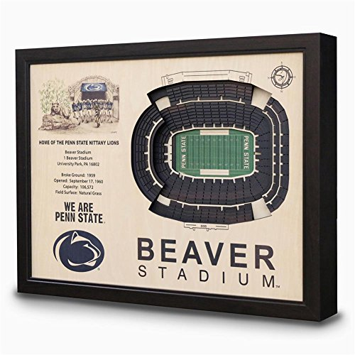 NCAA Penn State Nittany Lions - Beaver Stadium Stadiumview Wall Art, One Size, Birch Wood by Sportula