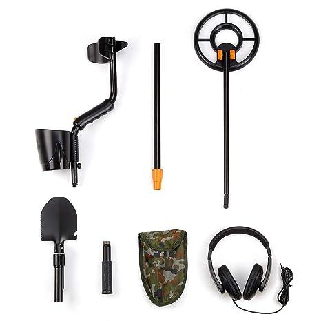 FLOUREON Detector de Metales, Detector de Metales Profesional, Alta Sensibilidad Ajustable, Alta Sensibilidad