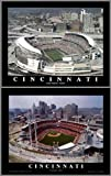 Framed Cincinnati Reds and Bengals - Paul Brown Stadium & Great American Ballpark Prints (Set of 2)