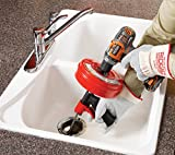 Ridgid GIDDS-813340 41408 Power Spin with AUTOFEED, Maxcore Drain Cleaner Cable, and Bulb Drain Auger to Remove Drain Clogs