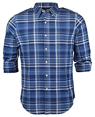 Polo Ralph Lauren Men's Plaid Oxford Button-down Shirt