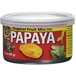 Zoo Med Tropical Fruit Mix-ins Papaya Reptile Food, 3.4-Ounce