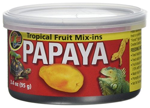 Tropical Gecko Lizard - Zoo Med Tropical Fruit Mix-ins Papaya Reptile Food, 3.4-Ounce