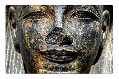Tree26 Indoor Floor Rug/Mat (23.6 x 15.7 Inch) - Sculpture Statue Art Face Ancient Egyptian Museum 1