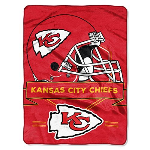 Northwest 0807 NFL Kansas City Chiefs Prestige Plush Raschel Blanket, 60