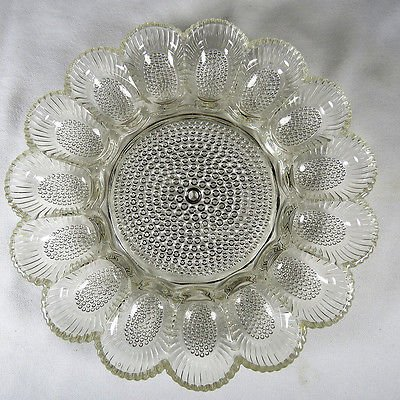 Deviled Egg Plate Indiana Glass Hobnail (Indiana Glass Glass Plates)