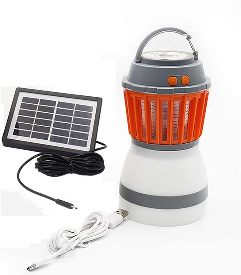 2-in-1 Portable Outdoor Camping Light Bulb Solar Power Mosquito Repellent Lamp