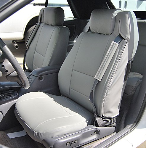 2001-2006 Chrysler Sebring Convertible Grey Artificial leather Custom fit Front seat cover