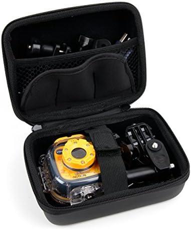 DURAGADGET Black Hard Shell EVA Box CaseCarabiner Clip & Twin Zips - CompatibleThe VTech Kidizoom Action Cam (80-170703) & Vtech Kidizoom Action Cam HD (80-520203)