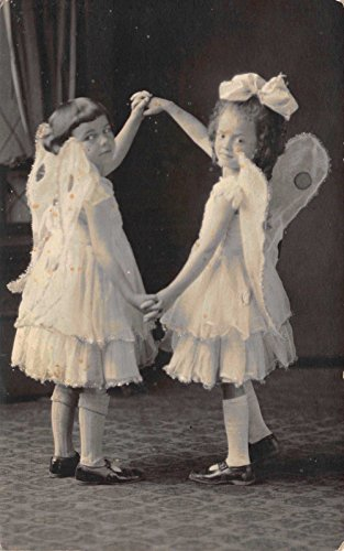 Pin Up Girl Costumes Ebay (Photo Studio Real Photo Postcard Two Girls Dressed in Angel Fairy Costume~114660)