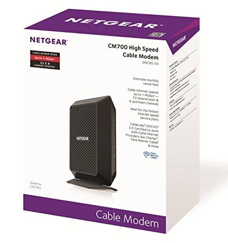 Time Warner Cable Quote: NETGEAR CM700 (32x8) DOCSIS 3.0 Gigabit Cable Modem. Max