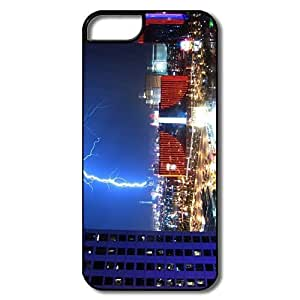 IPhone 5/5S Cover, Lightning Over Las Vegas Cases For IPhone 5S - White/black Hard Plastic