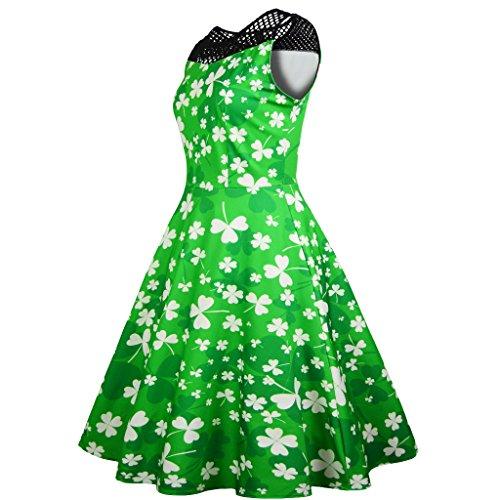 Para Un Un Y Vestido Vestido Un Vestido RONG green XIU qIUtRI
