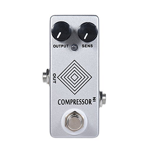 ammoon MOSKY Electric Guitar Dynamic Compressor Effect Pedal Full Metal Shell True Bypass