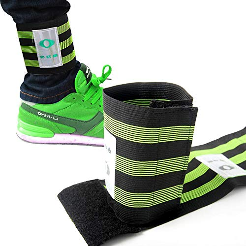 (Pant Reflective Ankle , 2PCS Bike Bands For Men & Women , First Rate Fitness Equipment ,  High Visibility And Safety Outdoor Clip Leg Strap For Jogging ,  Walking ,  Cycling Gear - Works as Wristbands)