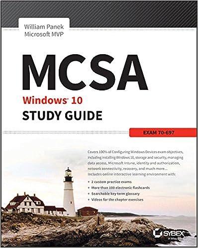 amazon com mcsa microsoft windows 10 study guide exam 70 697 ebook