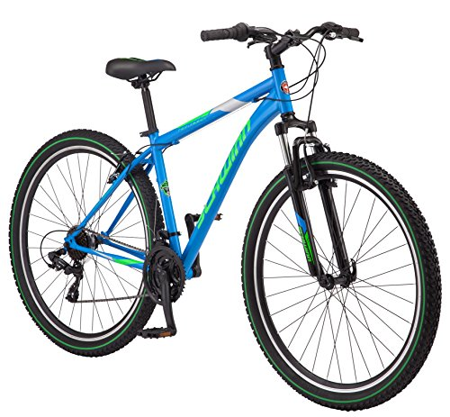 Find Discount Schwinn High Timber Men's Mountain Bike 29 Wheel, 18 Medium Frame Size Blue