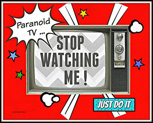 Stop watching TV art Television art print Mental Health Education Poster Retro Comics Superheroes art for children Teachers Back to School Counselors Psychology art print Parenting print