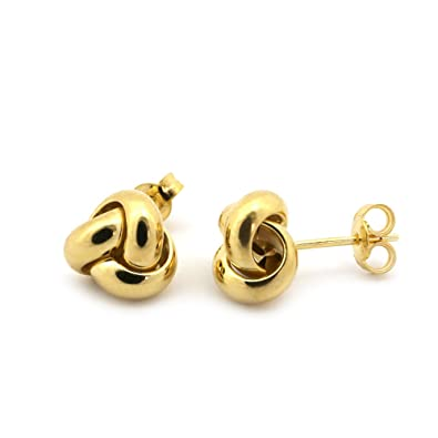 500b701611a03 14k Yellow Gold Large Love Knot Earrings