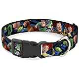 Buckle Down BAC-WDY278-NS Breakaway Cat Collar-Toy Story Characters Running2 Denim Rays, 1/2'' W-6-9 Neck-Small