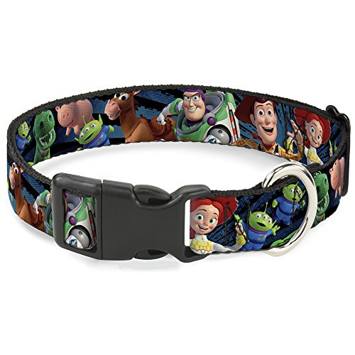 Buckle Down BAC-WDY278-NS Breakaway Cat Collar-Toy Story Characters Running2 Denim Rays, 1/2'' W-6-9 Neck-Small by Buckle Down