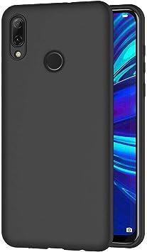 AICEK Coque Huawei P Smart 2019, Noir Silicone Coque pour P Smart 2019 Housse Huawei P Smart 2019 Noir Silicone Etui Case (6,21 Pouces)