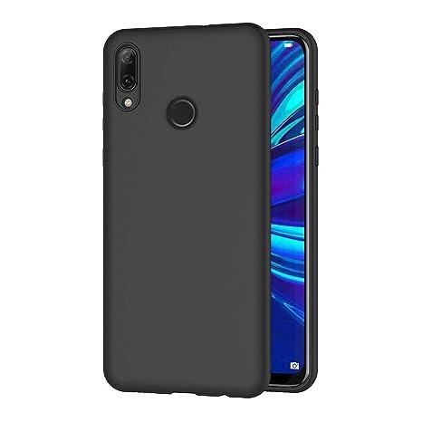 AICEK Funda Huawei P Smart 2019, Negro Silicona Fundas para P Smart 2019 Carcasa Huawei P Smart 2019 Negro Silicona Funda Case (6,21 Pulgadas)