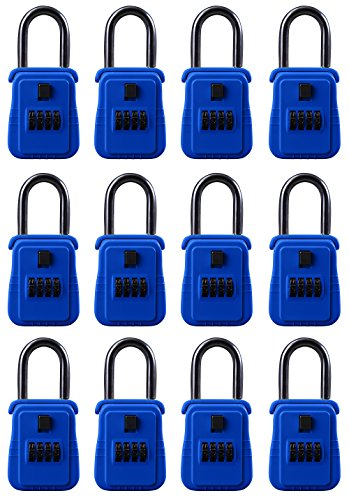 Rainbow Lockboxes (12 Pack) Real Estate Key Storage Lock Box with Set Your Own Combination, Blue - Choice of Colors by Rainbow Lockboxes