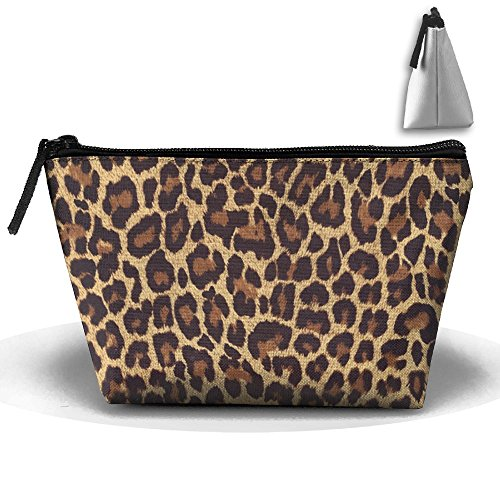 HGUII-O Cool Cheetah Leopard Makeup Bag Cosmetic Pouch Travel Bag With Zipper Closure For Women Girls]()