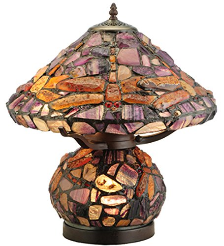 Meyda lighting dragonfly agata table lamp