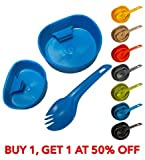 Kley-Zion Wildo Outdoor Camping Fold-A-Cup Kit - Spork...