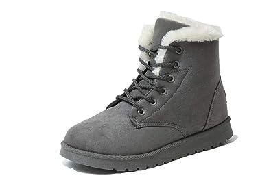 Amazon.com: Zapatillas de invierno botas de ante (Piel) de ...