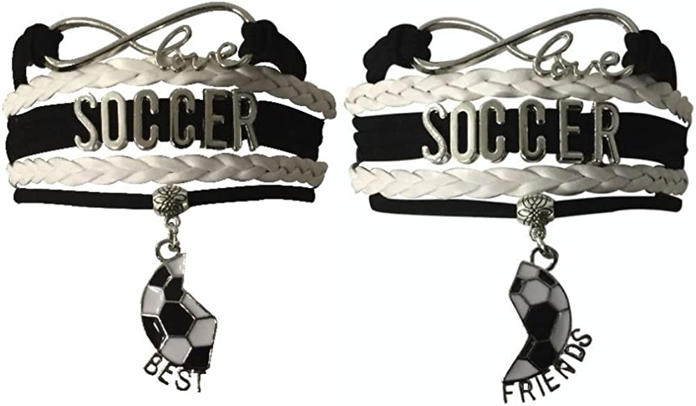 Soccer Jewelry Perfect Soccer Gifts for Best Friends Infinity Collection Soccer Best Friend Bracelets Soccer Gifts