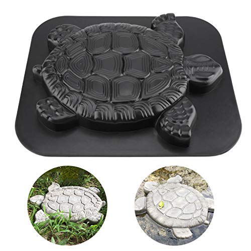 Transser - Turtle & Butterfly Stepping Stone Mold Concrete Cement Mould ABS Paver Mold Reusable Path Maker Garden Paving Stone Molds (B)