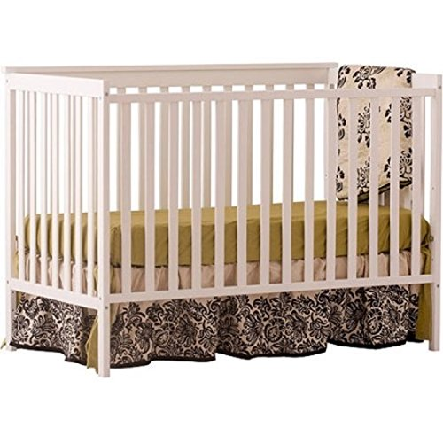 Stork Craft Sheffield Fixed Side 4 in 1 Convertible Baby Crib (White)