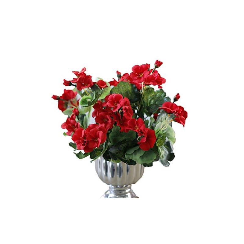 silk flower arrangements lopkey garden decor artificial begonia flowers bush,red