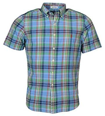 Polo Ralph Lauren Men's Madras Plaid Short-Sleeve Woven Shirt