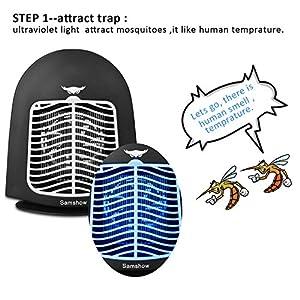 Samshow Bug Zapper, Mosquito Killer,Big Insect Killer Eliminates Most Flying Pests (Black)