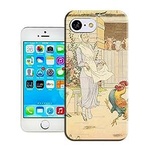 BreathePattern-230.Cock a Doodle Doo VINTAGE Nursery Rhyme Art Print Plastic Protective Case-Apple iPhone 5c case