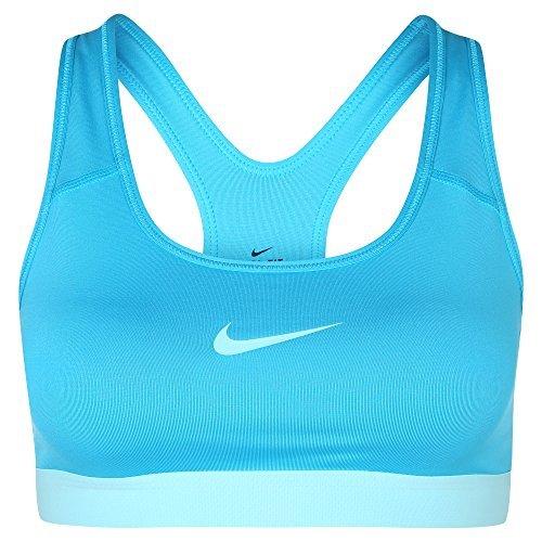 Nike Pro Dri-FIT Racerback Compression Mid-Impact Sports Bra (X-Large, bright citrus/black/white)