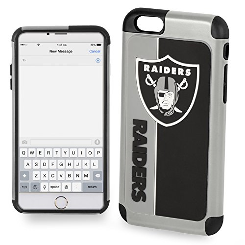 (Forever Collectibles Dual Hybrid Bold Series Case for iPhone 8 Plus/7 Plus - NFL Oakland Raiders )