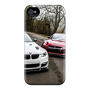 Shock Absorbent Hard Phone Case For Iphone 6 (ClF19016WwXX) Customized Realistic Bmw E92 M3 Nissan Gtr R35 Pattern