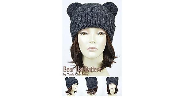 Bear Hat Pattern Knit Animal Hat Bonnet Femme Mickey Mouse Hat Bear