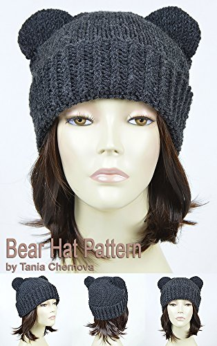 5ec981e9af3 Bear Hat Pattern Knit Animal Hat Bonnet Femme Mickey Mouse Hat Bear Beanie  Mickey Ears Womens ...