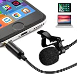 Professional Lavalier Microphone/ Professional Recording Interview, Podcast, Speech, Vlog, Video, Youtube /External Lapel Mic For IPhone, Android, Laptop/ Lapel Microphone/ Clip On Microphone