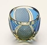 Edo Kiriko Old Fashioned Glass (Rock Glass): Blue
