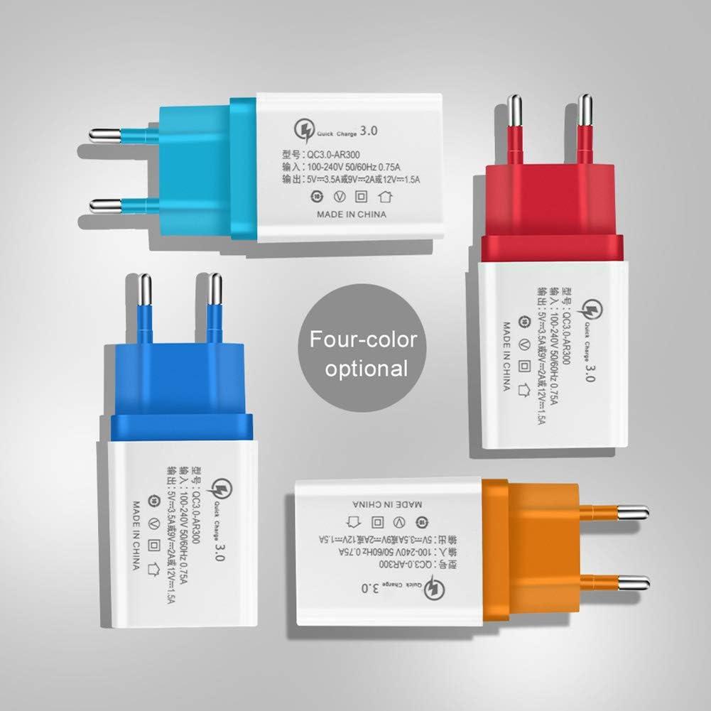 3A QC3.0 Chargeur Rapide USB Simple NXACETN Chargeur De T/él/éphone De Voyage /à Domicile 5V