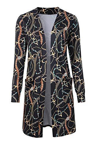 efca2760098 Cardigan Cotton Print - Tribear Women s Long Sleeve Open Front Loose Causal  Lightweight Kimono Cardigan(
