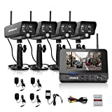 ANNKE Wireless Security Camera System with 7inch Monitor and (4) Indoor/Outdoor Weatherproof Bullet Cameras with 3.6mm Wide Angle, IR Night Vision, Real Plug and Play Review