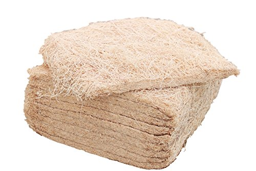 35 Pack of Nesting Pads for Chicken Nest Boxes by Brillante - Bulk Natural Aspen Excelsior Liners for Poultry, Birds and Pets